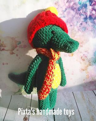 PDF Крокодил Мякиш схема вязаной игрушки крючком