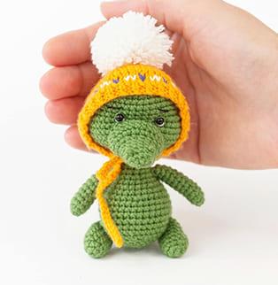 PDF Крокодильчик схема вязаной игрушки крючком