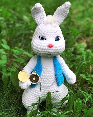 PDF Кролик схема вязаной игрушки крючком