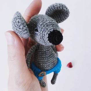 PDF Крысята схема вязаной игрушки крючком