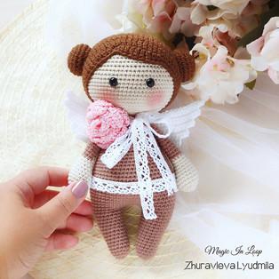 PDF Кукла феечка схема вязаной игрушки крючком