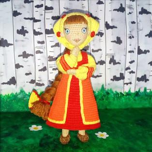 PDF Кукла Любава схема вязаной игрушки крючком