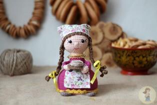 PDF Кукла Масленица схема вязаной игрушки крючком