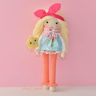 PDF Кукла Матильда схема вязаной игрушки крючком