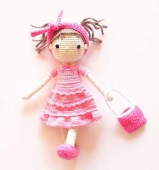 PDF Куколка Софи схема вязаной игрушки крючком