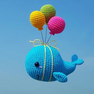 PDF Летающий кит схема вязаной игрушки крючком