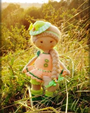 PDF Летняя куколка схема вязаной игрушки крючком