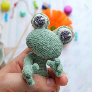 PDF Лягушонок схема вязаной игрушки крючком