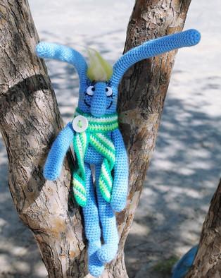 PDF Майский заяц схема вязаной игрушки крючком