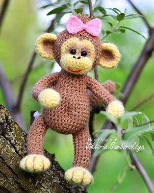 PDF Маленькая обезьянка схема вязаной игрушки крючком