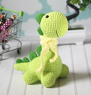 PDF Маленький Динозавр схема вязаной игрушки крючком