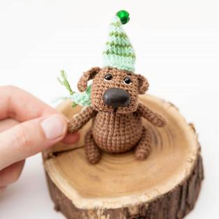 PDF Маленький пёс с большим носом схема вязаной игрушки крючком