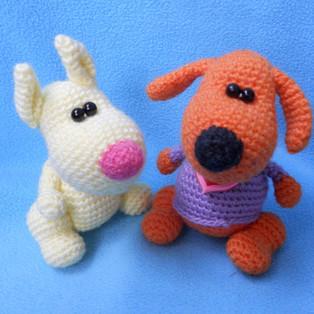 PDF Маленький пёсик схема вязаной игрушки крючком