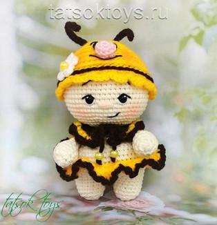 PDF Малышка Пчёлка схема вязаной игрушки крючком
