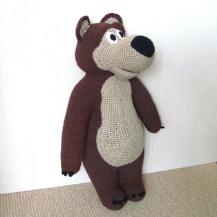 PDF Медведь схема вязаной игрушки крючком