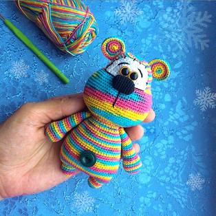 PDF Медвежонок схема вязаной игрушки крючком