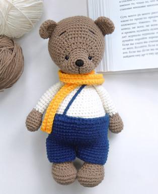 PDF Медвежонок Бари схема вязаной игрушки крючком