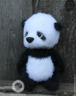 PDF Медвежонок Панда схема вязаной игрушки крючком