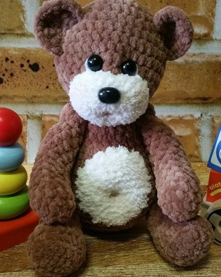 PDF Медвежонок Ромка схема вязаной игрушки крючком