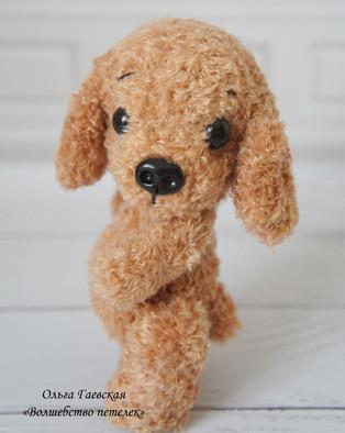 PDF Мини собачка схема вязаной игрушки крючком
