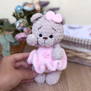 PDF Мишка малышка схема вязаной игрушки крючком