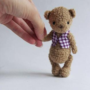 PDF Мишка Сёма схема вязаной игрушки крючком