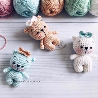 PDF Мишки малышки схема вязаной игрушки крючком