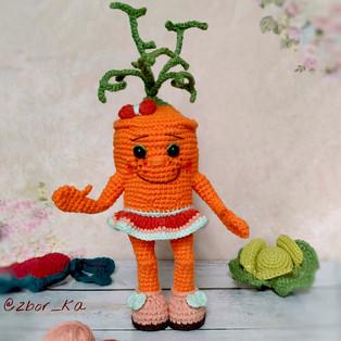 PDF Морковка Вита схема вязаной игрушки крючком