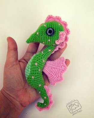 PDF Морской конёк схема вязаной игрушки крючком