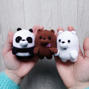 PDF Мы Медведи схема вязаной игрушки крючком