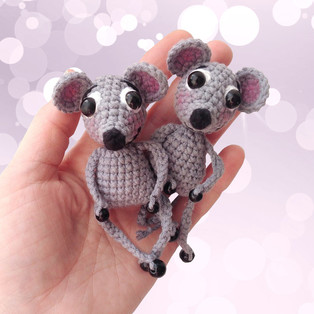 PDF Мышки малышки схема вязаной игрушки крючком