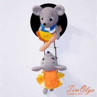 PDF Мышки воришки схема вязаной игрушки крючком