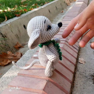 PDF Мышонок Бэл Бэл схема вязаной игрушки крючком