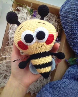 PDF Пчелёнок схема вязаной игрушки крючком