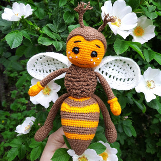 PDF Пчелёнок Флай схема вязаной игрушки крючком