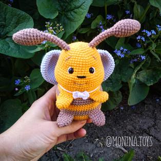 PDF Пчелёнок Луи схема вязаной игрушки крючком