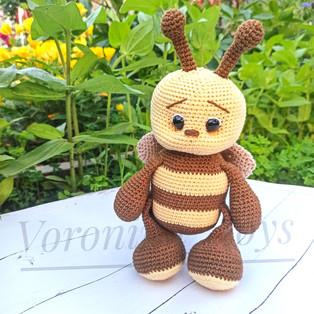 PDF Пчёлка Мия схема вязаной игрушки крючком