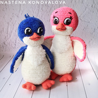 PDF Пингвинята Лоло и Пепе схема вязаной игрушки крючком
