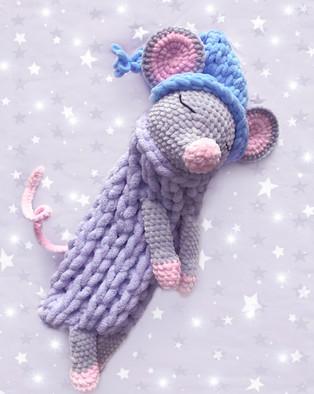 PDF Пижамница Мышка схема вязаной игрушки крючком