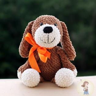 PDF Плюшевый Пёс схема вязаной игрушки крючком