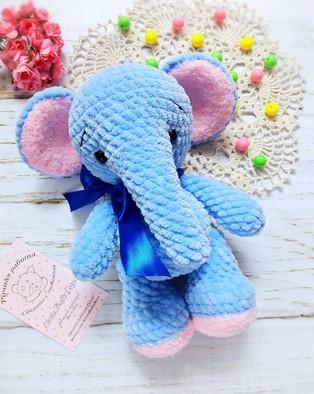 PDF Плюшевый слоник схема вязаной игрушки крючком