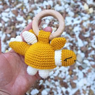 PDF Погремушка-грызунок динозаврик схема вязаной игрушки крючком