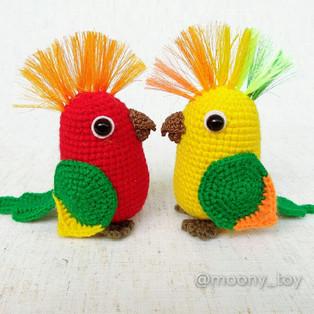 PDF Попугайчик схема вязаной игрушки крючком