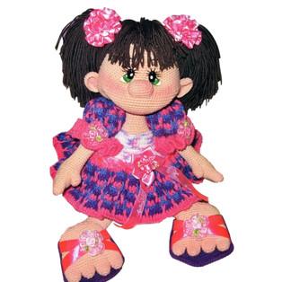 PDF Принцесса Ириска схема вязаной игрушки крючком