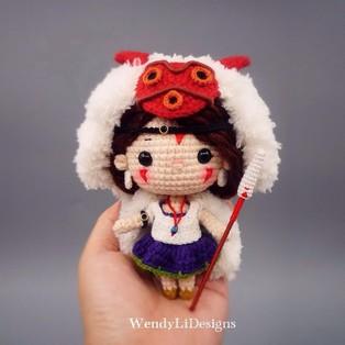 PDF Принцесса Мононоке схема вязаной игрушки крючком