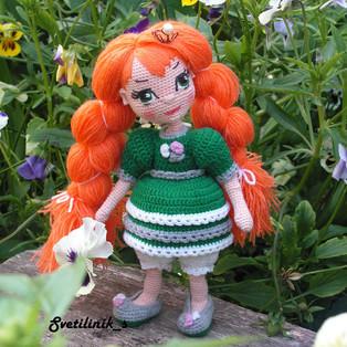PDF Принцесса в ладошке схема вязаной игрушки крючком
