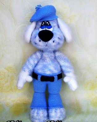 PDF Пёс Даур схема вязаной игрушки крючком