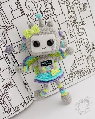 PDF Роботесса-Фея схема вязаной игрушки крючком