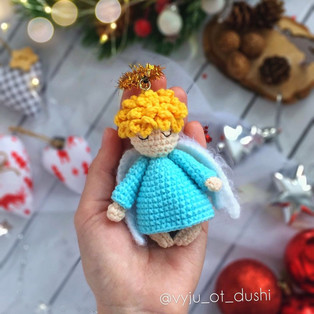PDF Рождественский ангел схема вязаной игрушки крючком