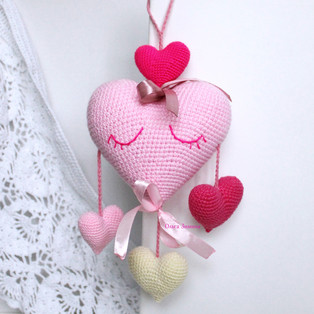 PDF Сердечко схема вязаной игрушки крючком